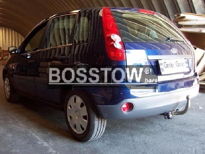 Anhängerkupplung für Ford-Fiesta Fließheck, VI, nicht Fzg. mit Parktronic, Baureihe 2002-2005  horizontal