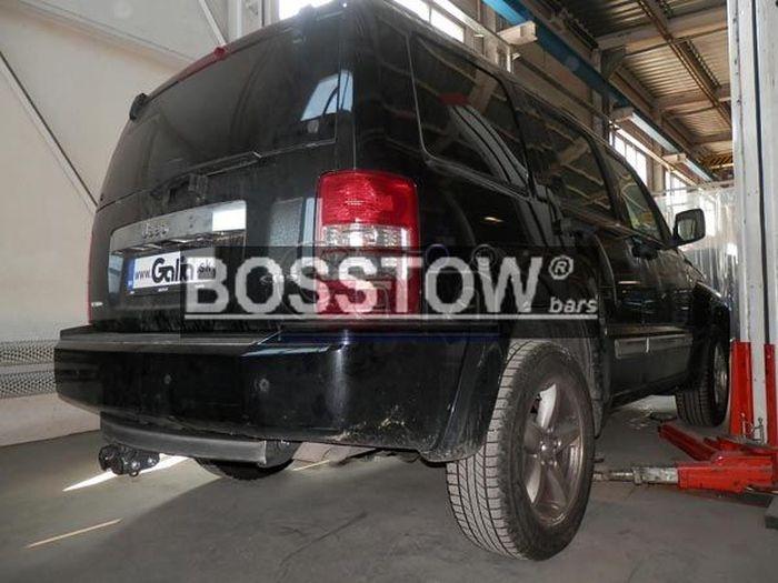 Anhängerkupplung für Dodge-Nitro speziell Fahrzeuge mit 20 Zoll Reserverad, Baureihe 2007-  horizontal