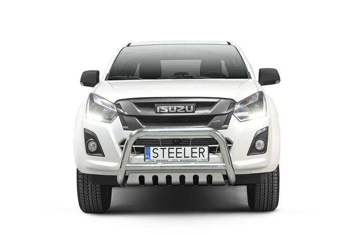 Frontschutzbügel Kuhfänger Bullfänger Isuzu D-Max Double Cab Version 2012-2017, Steelbar QFU 70mm