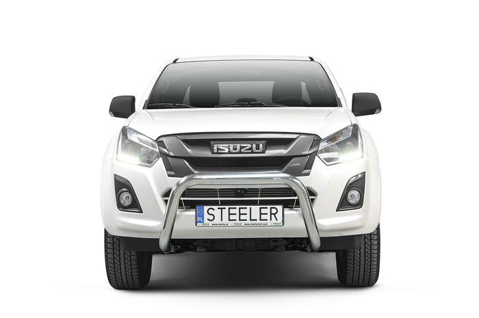 Frontschutzbügel Kuhfänger Bullfänger Isuzu D-Max Space Cab Version 2012-2017, Steelbar 70mm