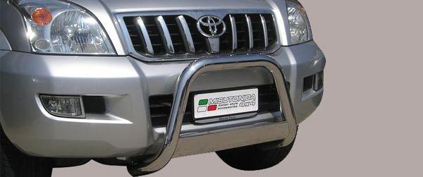 Frontschutzbügel Kuhfänger Bullfänger Toyota Land Cruiser 120/J12 2002-2009, Medium Bar 63mm Edelstahl Omologato Inox