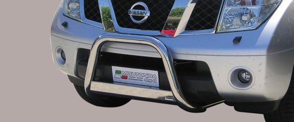Frontschutzbügel Kuhfänger Bullfänger Nissan Pathfinder 2005-2010, Medium Bar 63mm Edelstahl Omologato Inox