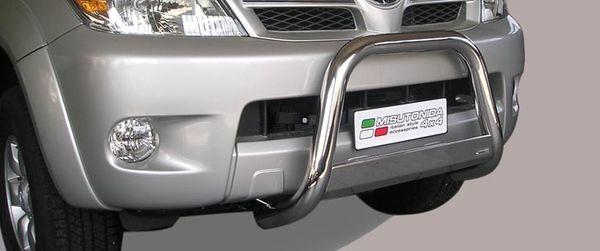 Frontschutzbügel Kuhfänger Bullfänger Toyota Hi-Lux 2006-2011, Medium Bar 63mm Edelstahl Omologato Inox