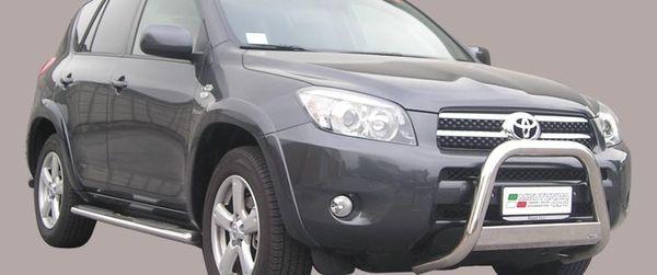 Frontschutzbügel Kuhfänger Bullfänger Toyota RAV4 2006-2009, Medium Bar 63mm Edelstahl Omologato Inox