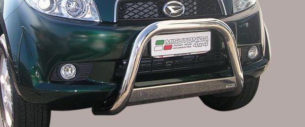 Frontschutzbügel Kuhfänger Bullfänger Daihatsu Terios Overfender Version 2006-2009, Medium Bar 63mm Edelstahl Omologato Inox