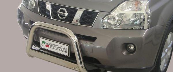 Frontschutzbügel Kuhfänger Bullfänger Nissan X-Trail 2007-2010, Medium Bar 63mm Edelstahl Omologato Inox
