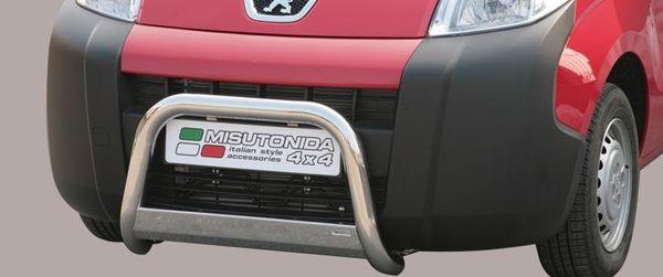 Frontschutzbügel Kuhfänger Bullfänger Peugeot Bipper 2008-, Medium Bar 63mm Edelstahl Omologato Inox
