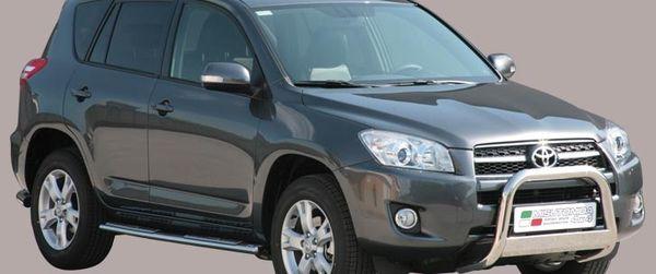 Frontschutzbügel Kuhfänger Bullfänger Toyota RAV4 2009-2010, Medium Bar 63mm Edelstahl Omologato Inox