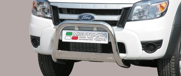 Frontschutzbügel Kuhfänger Bullfänger Ford Ranger 2009-2011, Medium Bar 63mm Edelstahl Omologato Inox