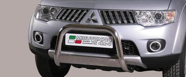 Frontschutzbügel Kuhfänger Bullfänger Mitsubishi L200 Double Cab 2010-,2015 Medium Bar 63mm Edelstahl Omologato Inox
