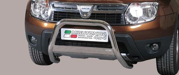 Frontschutzbügel Kuhfänger Bullfänger Dacia Duster 2010-2014, Medium Bar 63mm Edelstahl Omologato Inox