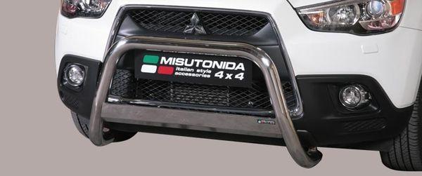 Frontschutzbügel Kuhfänger Bullfänger Mitsubishi ASX 2010-2012, Medium Bar 63mm Edelstahl Omologato Inox