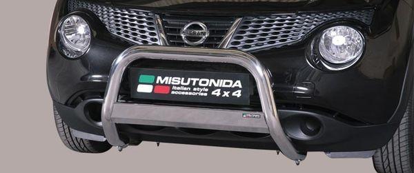 Frontschutzbügel Kuhfänger Bullfänger Nissan Juke 4x2 2010-, Medium Bar 63mm Edelstahl Omologato Inox