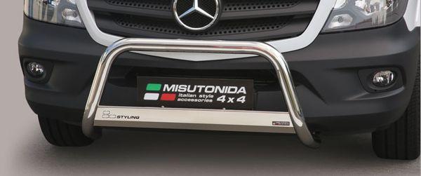 Frontschutzbügel Kuhfänger Bullfänger Mercedes Sprinter 2013-2018, Medium Bar 63mm Edelstahl Omologato Inox