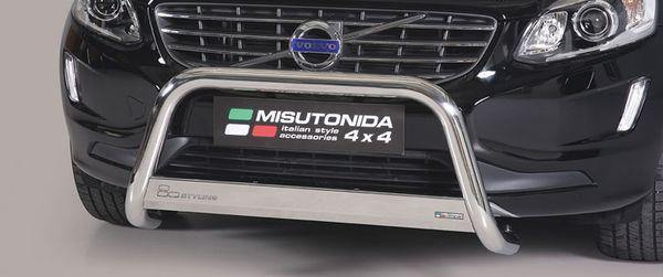 Frontschutzbügel Kuhfänger Bullfänger Volvo XC60 2014-, Medium Bar Mark 63mm Edelstahl Omologato Inox