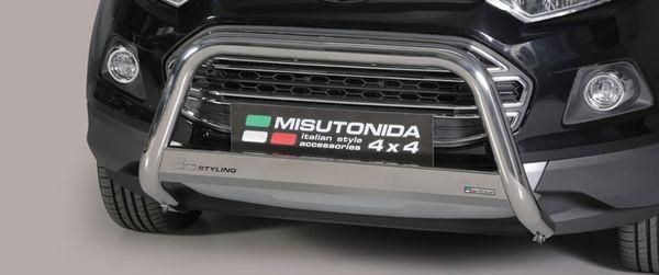 Frontschutzbügel Kuhfänger Bullfänger Ford Ecosport 2014-2018, Medium Bar 63mm Edelstahl Omologato Inox