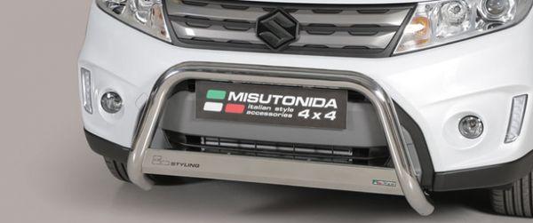 Frontschutzbügel Kuhfänger Bullfänger Suzuki Vitara 2015-2018, Medium Bar 63mm Edelstahl Omologato Inox