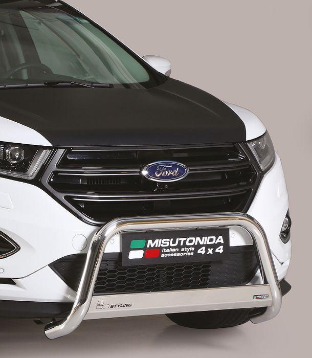 Frontschutzbügel Kuhfänger Bullfänger Ford Edge 2016-, Medium Bar Mark 63mm Edelstahl Omologato Inox