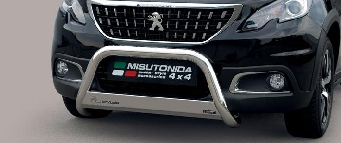 Frontschutzbügel Kuhfänger Bullfänger Dacia Duster 2018-, Medium Bar 63mm Edelstahl Omologato Inox
