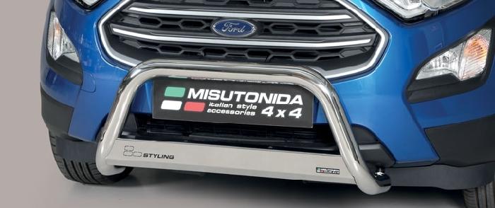 Frontschutzbügel Kuhfänger Bullfänger Ford Ecosport 2018-, Medium Bar 63mm Edelstahl Omologato Inox