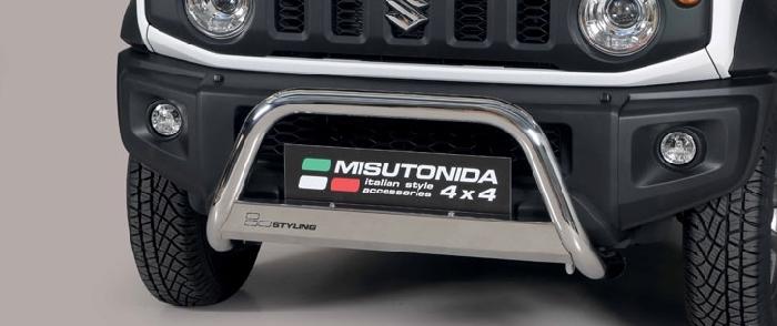 Frontschutzbügel Kuhfänger Bullfänger Suzuki Jimny 2018-, Medium Bar 63mm Edelstahl Omologato Inox
