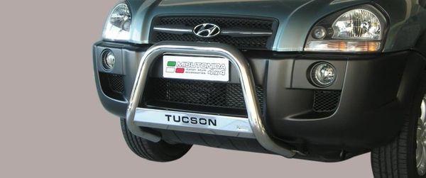 Frontschutzbügel Kuhfänger Bullfänger Hyundai Tucson 2004-2010, Medium Bar Mark 63mm Edelstahl Omologato Inox
