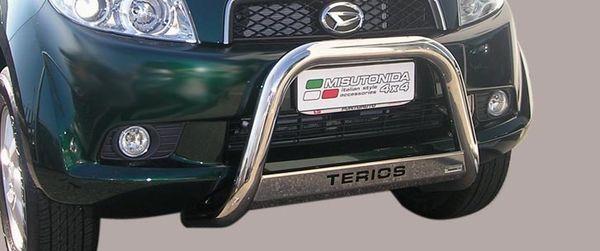 Frontschutzbügel Kuhfänger Bullfänger Daihatsu Terios CX Version 2006-2009, Medium Bar Mark 63mm Edelstahl Omologato Inox
