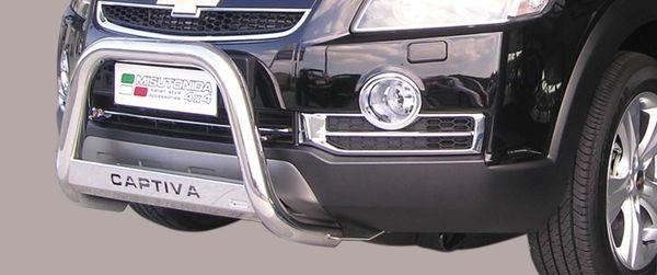 Frontschutzbügel Kuhfänger Bullfänger Chevrolet Captiva 2006-2010, Medium Bar Mark 63mm Edelstahl Omologato Inox