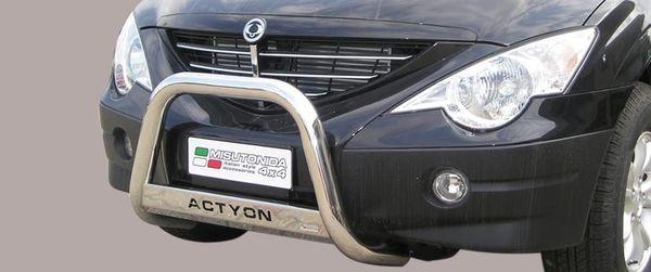 Frontschutzbügel Kuhfänger Bullfänger Ssang Yong Actyon 2006-, Medium Bar Mark 63mm Edelstahl Omologato Inox