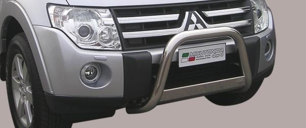 Frontschutzbügel Kuhfänger Bullfänger Mitsubishi Pajero 3-türig 2007-2012, Medium Bar Mark 63mm Edelstahl Omologato Inox