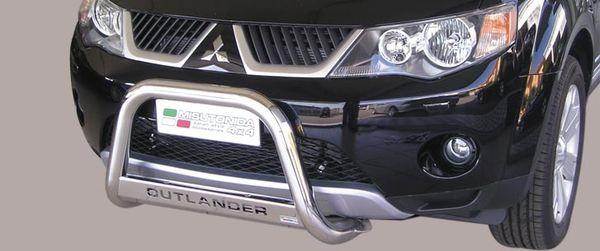 Frontschutzbügel Kuhfänger Bullfänger Mitsubishi Outlander 2007-2009, Medium Bar Mark 63mm Edelstahl Omologato Inox