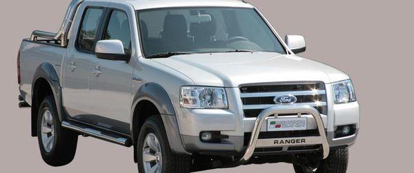 Frontschutzbügel Kuhfänger Bullfänger Ford Ranger 2007-2009, Medium Bar Mark 63mm Edelstahl Omologato Inox