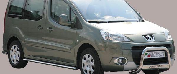 Frontschutzbügel Kuhfänger Bullfänger Peugeot Partner 2008-2015, Medium Bar Mark 63mm Edelstahl Omologato Inox