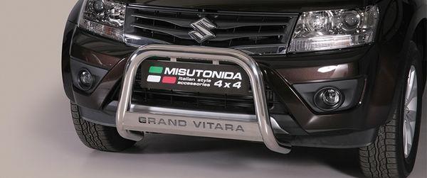 Frontschutzbügel Kuhfänger Bullfänger Suzuki Grand Vitara 2013-2015, Medium Bar Mark 63mm Edelstahl Omologato Inox