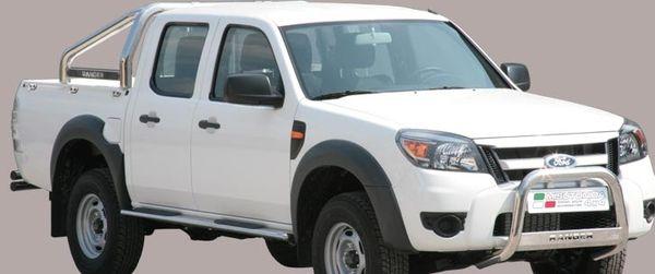 Frontschutzbügel Kuhfänger Bullfänger Ford Ranger 2009-2011, Medium Bar Mark 63mm Edelstahl Omologato Inox