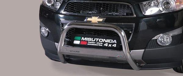 Frontschutzbügel Kuhfänger Bullfänger Chevrolet Captiva 2011-, Medium Bar Mark 63mm Edelstahl Omologato Inox