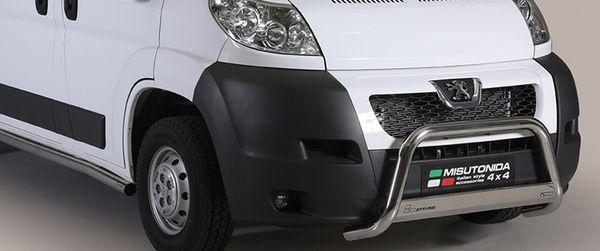 Frontschutzbügel Kuhfänger Bullfänger Peugeot Boxer 2006-2014, Medium Bar Mark 63mm Edelstahl Omologato Inox