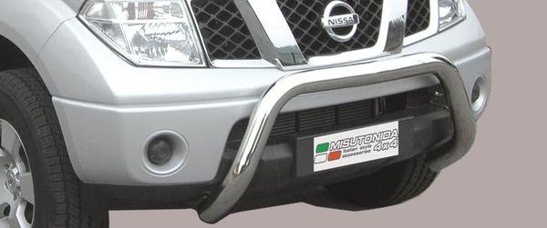 Frontschutzbügel Kuhfänger Bullfänger Nissan Navara 2005-2010, Super Bar 76mm Edelstahl Omologato Inox