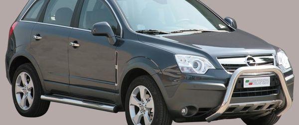 Frontschutzbügel Kuhfänger Bullfänger Opel Antara 2007-2011, Super Bar 76mm Edelstahl Omologato Inox