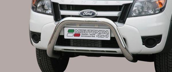 Frontschutzbügel Kuhfänger Bullfänger Ford Ranger 2009-2011, Super Bar 76mm Edelstahl Omologato Inox