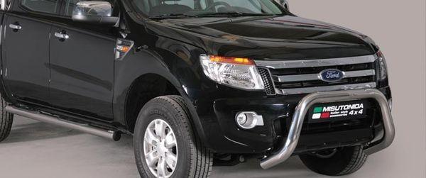 Frontschutzbügel Kuhfänger Bullfänger Ford Ranger 2012-2015, Super Bar 76mm Edelstahl Omologato Inox