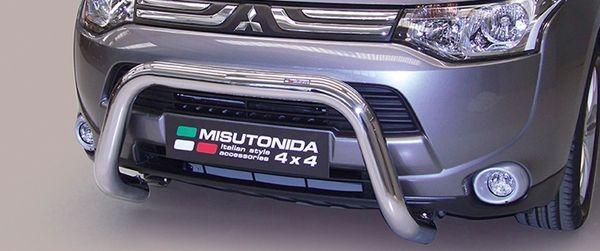 Frontschutzbügel Kuhfänger Bullfänger Mitsubishi Outlander 2013-2015, Super Bar 76mm Edelstahl Omologato Inox