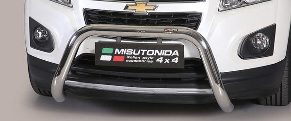 Frontschutzbügel Kuhfänger Bullfänger Chevrolet Trax 2013-, Super Bar 76mm Edelstahl Omologato Inox