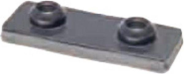 Halteschelle, Rohrschelle 35mm- passende Deckplatte B