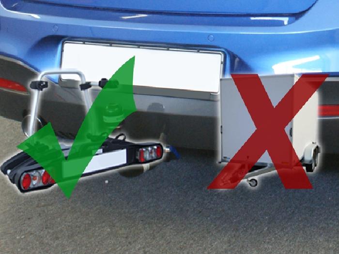 Anhängerkupplung für BMW-1er F20, speziell M135i nur für Heckträgerbetrieb, Baureihe 2011-2014  vertikal