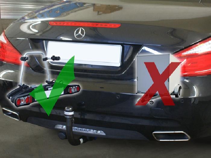 Anhängerkupplung Mercedes-SL R 231, nur für Heckträgerbetrieb, Baureihe 2012-