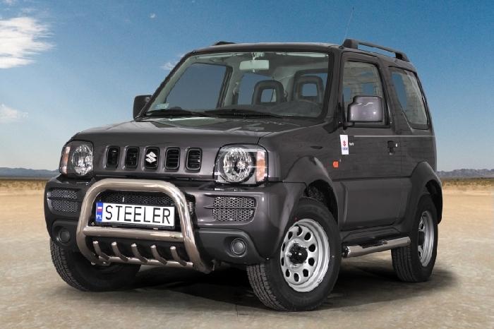 Frontschutzbügel Kuhfänger Bullfänger Suzuki Jimny 2005-2012, Steelbar QRU 70mm, schwarz beschichtet