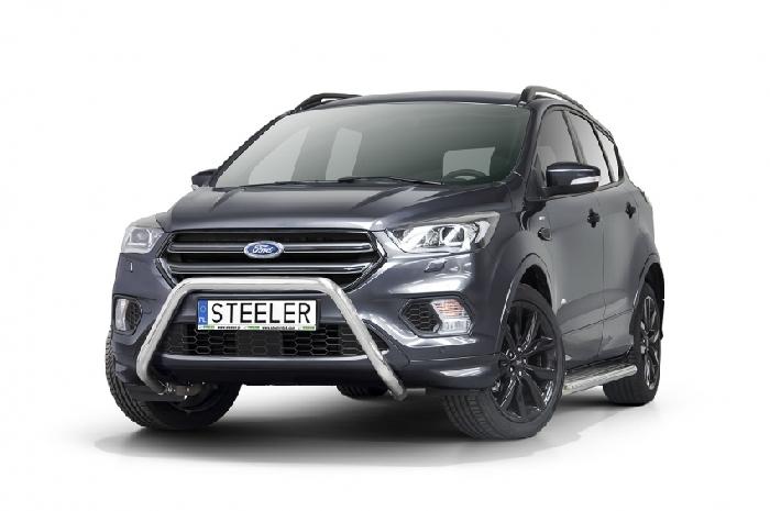 Frontschutzbügel Kuhfänger Bullfänger Ford Kuga 2017-, Steelbar 60mm