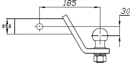US- Einsteckadapter bis 3500kg, 60 unter, 2 Zoll