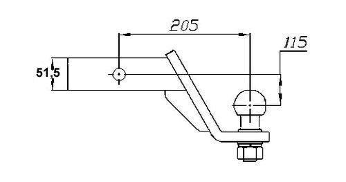 US- Einsteckadapter bis 3500kg, 140 unter, 2 Zoll